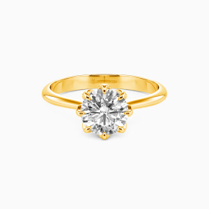 10K Gold Happiness Is Within Reach Engagement Solitaire Rings