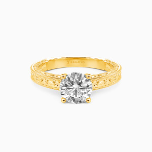 10K Gold You Are My Cure Engagement Solitaire Rings