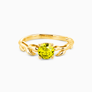10K Gold Life Begins Engagement Solitaire Rings