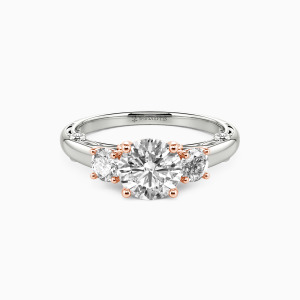 10K White Gold Always Engagement Three Stone Rings