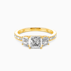 10K Gold You Are My Angel Engagement Three Stone Rings