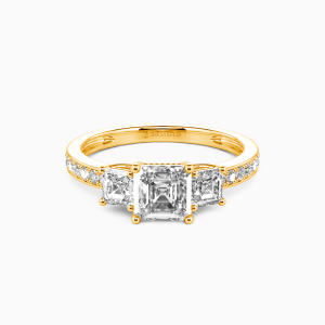 14K Gold You Are My Angel Engagement Three Stone Rings
