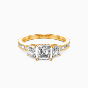 18K Gold You Are My Angel Engagement Three Stone Rings