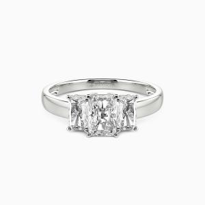 10K White Gold Cherish Engagement Three Stone Rings
