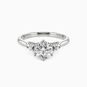 10K White Gold You're The Only One Engagement Three Stone Rings