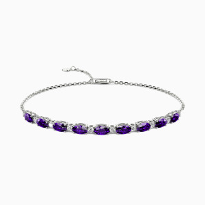 10K White Gold Sincere Love Jewelry Bracelets