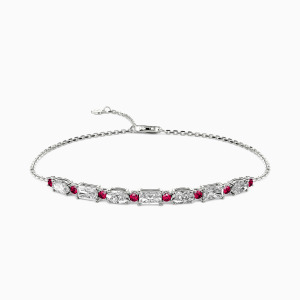 10K White Gold You Are My life Jewelry Bracelets