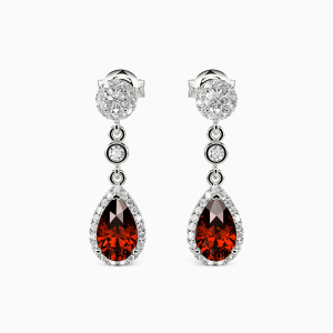 10K White Gold My Bright Star Jewelry Earrings