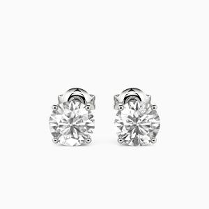 10K White Gold Forever & Always Jewelry Earrings