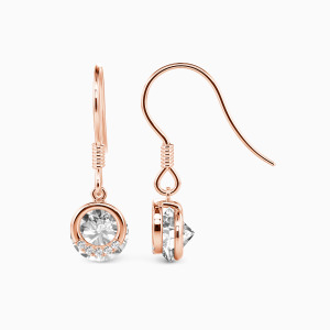 10K Rose Gold Forver Young Jewelry Earrings