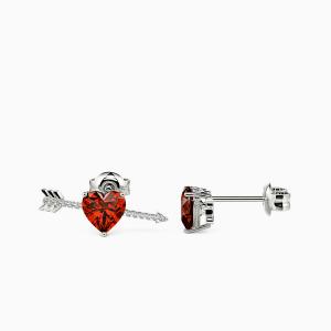10K White Gold Destined Love Jewelry Earrings