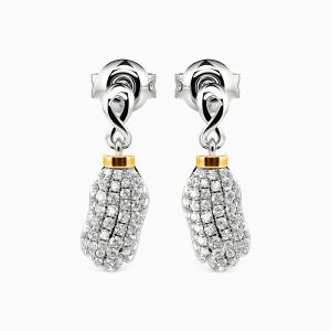 10K Gold Peanut to My Butter Jewelry Earrings