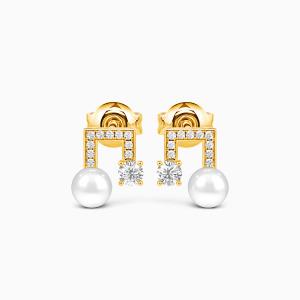 10K Gold Love Around The Corner Jewelry Earrings