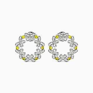 10K White Gold If You Are In Full Bloom, Butterflies Will Come Jewelry Earrings