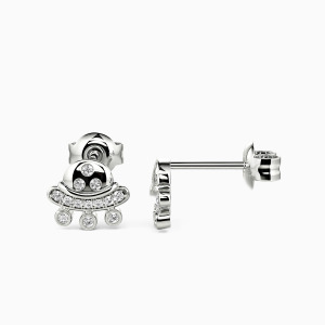 10K White Gold Your Smile Jewelry Earrings