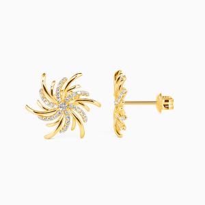 10K Gold Burst Into Bloom Jewelry Earrings