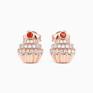 10K Rose Gold Sweet Everyday Jewelry Earrings