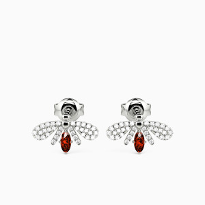 10K White Gold Nature's Angel Jewelry Earrings