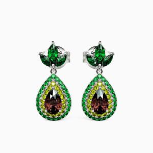 10K White Gold Full Of Vitality Jewelry Earrings
