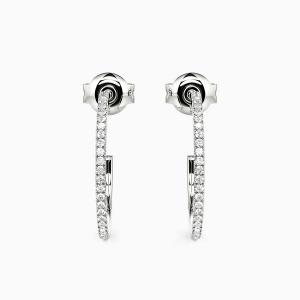 10K White Gold Fleet Of Time Jewelry Earrings