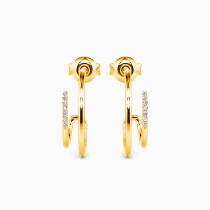 10K Gold Swirl Heartbeat Jewelry Earrings