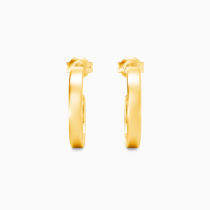 10K Gold Encircled By Love Jewelry Earrings