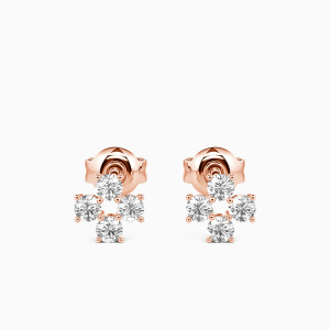 10K Rose Gold The Best of Us Jewelry Earrings