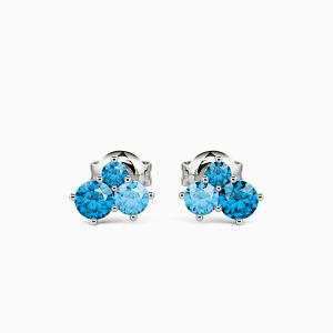 10K White Gold Love Eternity Jewelry Earrings