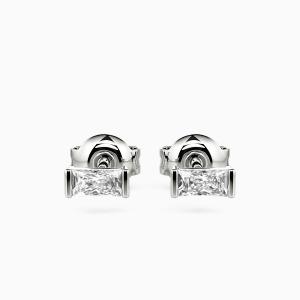 10K White Gold The Beauty Of Love Jewelry Earrings