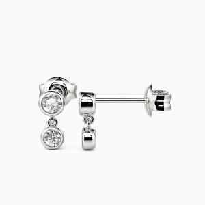 10K White Gold Promise Jewelry Earrings