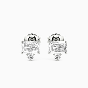 10K White Gold Forever Young Jewelry Earrings