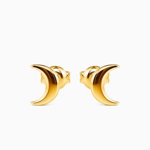 10K Gold Moon Goddess Jewelry Earrings