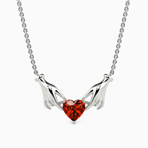 10K White Gold Dedication Of Love Jewelry Necklaces