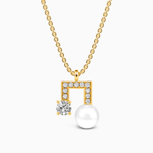 10K Gold Love Around The Corner Jewelry Necklaces