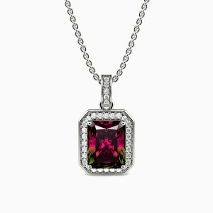 10K White Gold The Brightest Star In The Night Sky Jewelry Necklaces