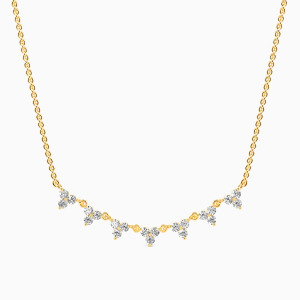 10K Gold The Scattering Stars Jewelry Necklaces