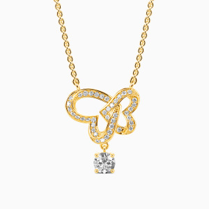 10K Gold Two Hearts One Love Jewelry Necklaces