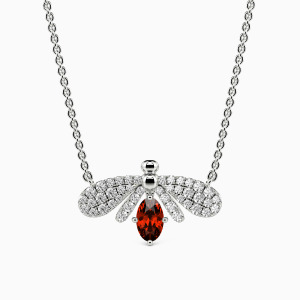 10K White Gold Nature's Angel Jewelry Necklaces