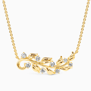 10K Gold The Branch Bud Of Love Jewelry Necklaces