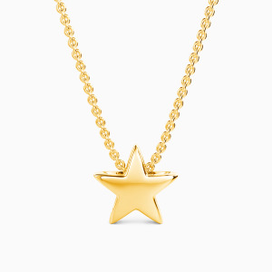 10K Gold Dazzling Like A Star Jewelry Necklaces