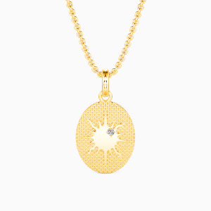 10K Gold Let the Sun Shine on Your Soul Jewelry Necklaces