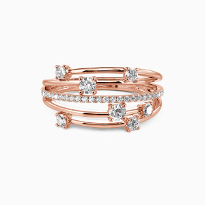 18K Rose Gold The One Wedding Classic Bands