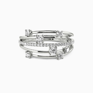 18K White Gold The One Wedding Classic Bands