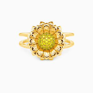 10K Gold Be Bright Sunny Jewelry Rings