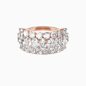 14K Rose Gold  You Are My Today & Tomorrows Wedding Classic Bands