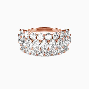 18K Rose Gold  You Are My Today & Tomorrows Wedding Classic Bands