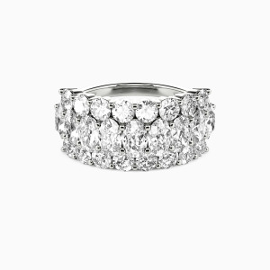 18K White Gold  You Are My Today & Tomorrows Wedding Classic Bands