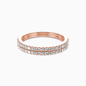 18K Rose Gold My One and Only Wedding Classic Bands