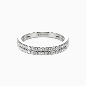 18K White Gold My One and Only Wedding Classic Bands