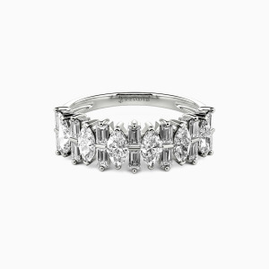 14K White Gold My Other Half Wedding Classic Bands
